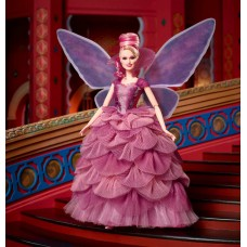 Коллекционная Кукла Барби Сахарная Фея Блондинка в сливовом платье с крыльями -  Sugar Plum Fairy Barbie Doll