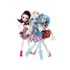 Кукольный набор Монстер Хай Monster High Смертельно Прекрасный Горошек - Дракулаура, Эбби и Гулия