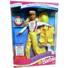 Коллекционная Кукла Барби Карьера Пожарный, с далматинцем, 1994 год - Career Collection Firefighter Barbie Doll