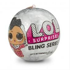 Игровой набор Новогодний ЛОЛ Блестящий Сюрприз с куколкой и аксессуарами в шаре - LOL Surprise! Bling Series