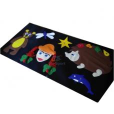 Игровое дидактическое панно для детей от 1-8 лет с аппликациями и заданиями для дома Маша и медведь 50х100 см
