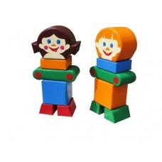 Мягкий Спортивно-игровой Модульный набор Друзья для детей из 12 предметов для дома, разборный 115х120х60 см