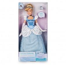 Оригинальная Кукла-модель Золушка Mattel Disney Princess Блондинка в пышном голубом платье с кольцом 30 см