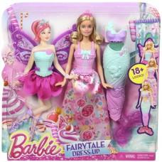Кукла Барби Блондинка Сказочное Перевоплощение с 3 разными нарядами - Dreamtopia Fairytale Dress Barbie Doll