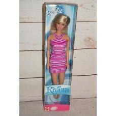 Коллекционная Кукла Барби Ривьера Блондинка в розовом полосатом платье 1989 года - Riviera Barbie Doll