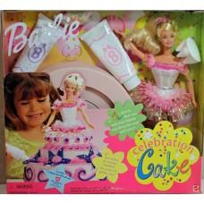 Коллекционный Набор Барби Праздничный торт 1999 года, юбка-форма торта, глазурь Barbie Celebration Cake Doll