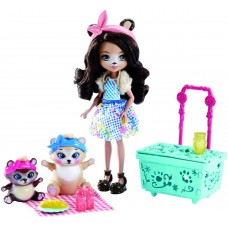 Игровой набор для девочек Пикник на природе Enchantimals подвижная Кукла со зверюшкой и аксессуарами от Mattel