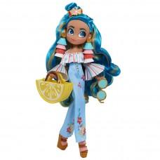 Кукла Для Девочек Хэрдораблс Ноа Модный Показ с голубыми волосами и сумочкой Hairdorables Hairmazing Noah 26см