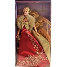 Коллекционная Кукла Барби Гламурная вечеринка Блондинка в красном платье 2003 года - Barbie Glamorous Gala Doll