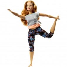 Шарнирная Кукла для девочек Барби Рыжеволосая Пышка Безграничные движения Йога - Barbie Made to Move Doll