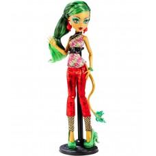 Кукла Монстер Хай Джинафаер Лонг Скарместр с дневником на подставке Monster High Jinafire Long New Scaremester