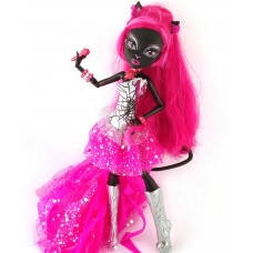 Кукла Монстер Хай Кетти Нуар 13 желаний серия Ночная жизнь Базовая Мonster High Catty Noir Basic Mattel 26 см
