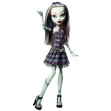 Кукла Монстер Хай Френки Штейн базовая без питомца в платье Monster High Frankie Stein Doll Basic Mattel 26 см