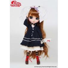Коллекционная Кукла Пуллип Мерл с длинными рыжими волосами в пышном морском платье Экслюкзивная Pullip Merl