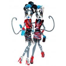 Набор 2-х Кукол Монстер Хай Мелодия и Пурсефона Зомби Шейк Monster High Meowlody and Purrsephone Zombie Shake