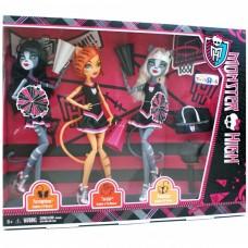 Набор 3х Кукол Монстер Хай Черлидеры Monster High 3-PACK FEARLEADING Werecats TORALEI Meowlody and Purrsephone