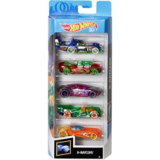 Детский Игровой Набор для мальчиков из 5 коллекционных моделей Машинок Хот Вилс масштаб 1:64 - Hot wheels 5 pack