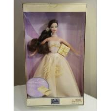 Коллекционная Кукла Барби С Днем Рождения Брюнетка в пышном платье 2003 года - Barbie Birthday Wishes Doll