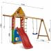 Детский игровой деревянный спортивный комплекс-площадка, горка, качель, кольца, лестница 240х310х187 см