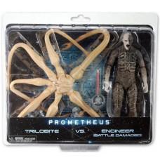 Игровой Набор фигурок Трилобит против Инженера - Trilobite vs Enginee, Battle-Damaged, Neca Нека, Prometheus