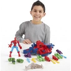 Фигурка Человека Паука c самолетом - Spider Man skycrawler, Super Hero Mashers, Marvel, Hasbro