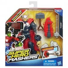 Разборная фигурка Тора со стреляющим оружием Thor Hammer Messile, Mashers, Hasbro