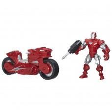 Разборная Фигурка Железный человек с мотоциклом, со съемными частями, 15 см - Iron Man, Mashers, Marvel, Hasbro