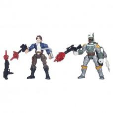 Разборные фигурки Хан Соло и Боба Фетт со съемными частями тела - Han Solo Boba Fett, Star Wars Mashers Hasbro