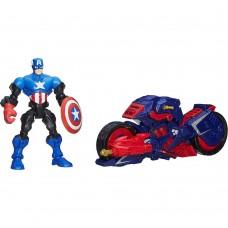 Разборная фигурка Капитан Америка с мотоциклом со съемными частями тела - Captain America Mashers Marvel Hasbro