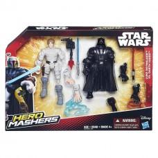 Разборные фигурки Люк Скайуокер, Дарт Вейдер, Машерс - Luke Skywalker, Darth Vader, Star Wars, Mashers, Hasbro