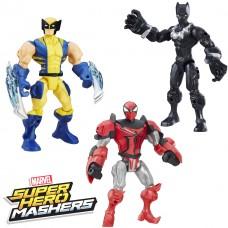 Набор разборных фигурок Росомаха, Черная Пантера, Человек Паук Рыцарь со съемными частями - Mashers, Hasbro