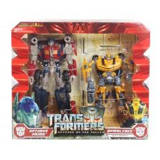 Набор трансформеров 2в1 Бамблби (Делюкс) + Оптимус Прайм (Вояджер) - Bumblebee&Optimus Prime, TF2, Hasbro