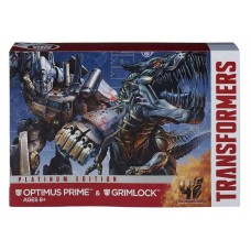 Трансформер Оптимус Прайм + Гримлок Платинум серия - Optimus Prime&Grimlock, Platinum Edition, TF4, Hasbro
