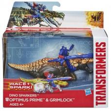 Игровой набор Автобот Оптимус Прайм и Динобот Гримлок с заводным механизмом - Optimus Prime&Grimlock TF4, Hasbro