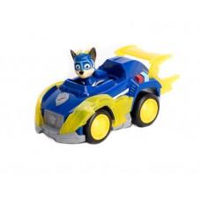 Игровой набор Щенячий Патруль: Гонщик и мегаполицейская машина - Chase Deluxe Vehicle, Mighty Pups, Spin Master