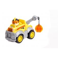 Игровой набор Щенячий Патруль: Крепыш и спасательный грузовик - Rubble Deluxe Vehicle, Mighty Pups, Spin Master