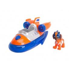 Игровой набор Щенячий Патруль: Зума и реактивная суперлодка - Zuma Deluxe Vehicle, Mighty Pups, Spin Master