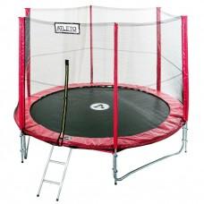 Спортивно-игровой Батут с внешней защитной сеткой для улицы, нагрузка до 180 кг, 88 пружин, D= 435 cм, красный