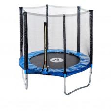 Спортивно-игровой Батут с внешней защитной сеткой, двойные ноги, нагрузка до 90 кг, 36 пружин, D= 183см, синий