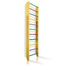 Спортивная Шведская стенка деревянная для дома, квартиры 240х80 см разноцветная - 0-240 (yellow)