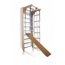 Детский спортивный комплекс-уголок Шведская стенка с турником, лестница, доска для пресса 75х80х220 см K-3-220