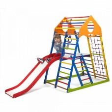 Детский спортивный комплекс-уголок для дома и квартиры, сетка, горка, кольца, рукоход 132х85х150 см KWCP 2