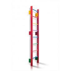 Спортивная Шведская стенка деревянная для дома, квартиры 220х80 см разноцветная - 0-220 (barby)