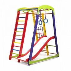 Детский спортивный Комплекс-уголок для дома и квартиры, складной, сетка, горка Волна 132х85х150 см К-1 P-1