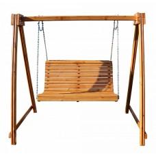 Деревянная Садовая Качель для детей и взрослых с подвесной скамейкой для улицы, 220х250 см, нагрузка до 150 кг