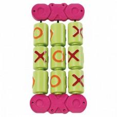 Игровой модуль Крестики-Нолики для детей из пластика для открытых уличных площадок, разноцветный 58х28х7 см