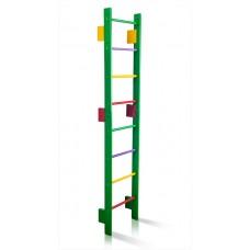 Спортивная Шведская стенка деревянная для дома, квартиры 220х80 см разноцветная - 0-220 (green)