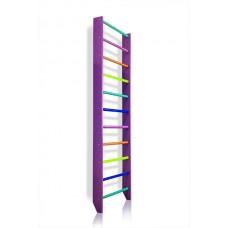 Спортивная Шведская стенка деревянная для дома, квартиры 240х80 см разноцветная - 0-240 (purple)