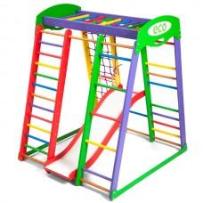 Детский спортивный Комплекс-уголок для дома и квартиры, сетка, горка, кольца, рукоход 132х124х150 см АP 1