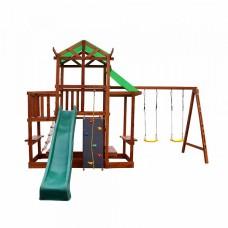 Детский игровой спортивный деревянный Комплекс площадка детская, горка, качели, песочница 700х150х300 см